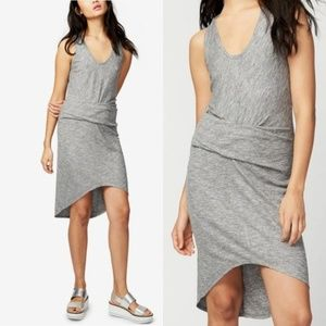 Rachel Roy Michele Grey Ribbed Gathered Dress